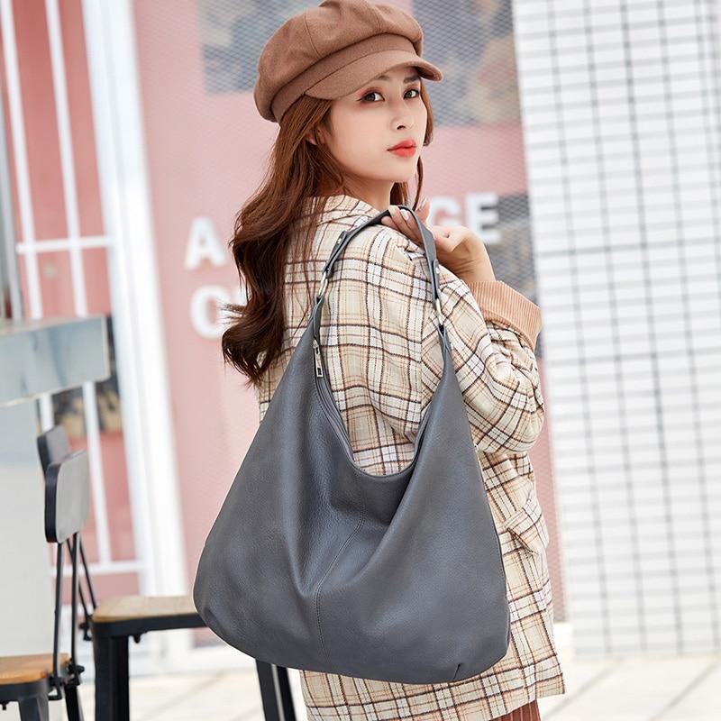 Chuwanglin Shoulder Bags for Ladies Large Capacity Dumpling Hobos Bags Simple Design Women Handbags Large Casual Totes A80703