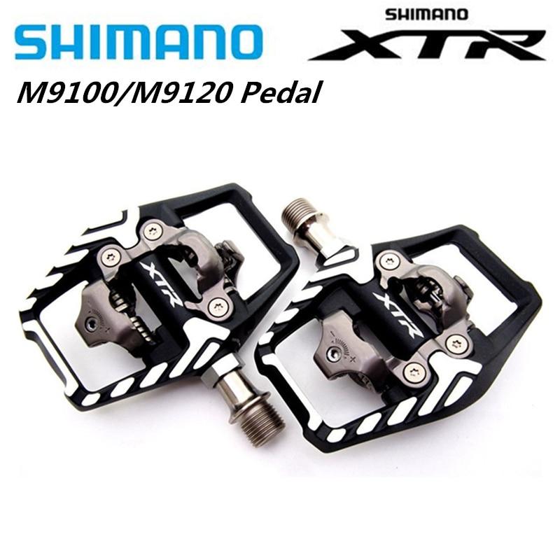 Shimano-Juego de pedales para bicicleta de montaña XTR M9100 M9120 SPD, mejora...