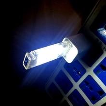 Jiguoor Mini USB Led lampka nocna lampa kempingowa dwustronne 12 diod LED lampka odczytu ładowania USB komputera biurko na laptopa lampa Led