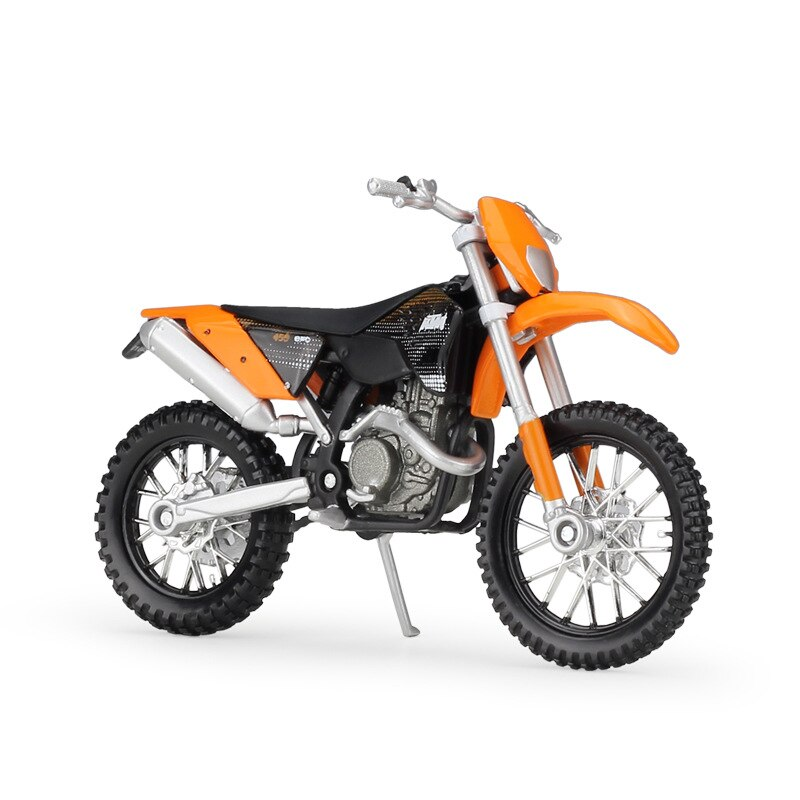 6 unids/lote, venta al por mayor, MAISTO 1/18, modelo de motocicleta, juguetes, modelo de motocicleta metálica KTM 450 EXC, modelo de motocicleta metálica