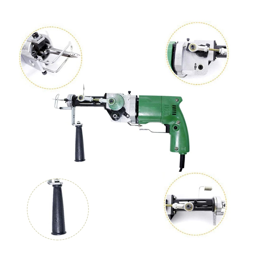 2400RPM New Electric Rug Tufting Machine Wall Tapestries Hand Tufting Gun Can Do Both Cut Pile And Loop Pile EU Plug enlarge