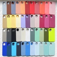 official original silicone case for iphone 12 11 pro xs max xr x case for apple iphone 7 8 plus se 2020 360 full cover