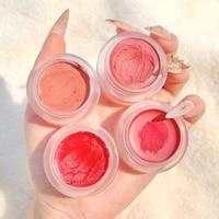 a set of 4 colors of lipstick cheese jelly matte velvet mud waterproof cream tone cheek dual purpose nude natural lip