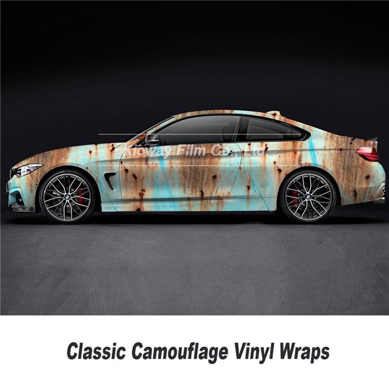 Película de revestimiento de vinilo óxido clásico para revestimiento para coche estilo de vehículo estilo único tamaño de envoltura de óxido 1,52*5/10/18 metros
