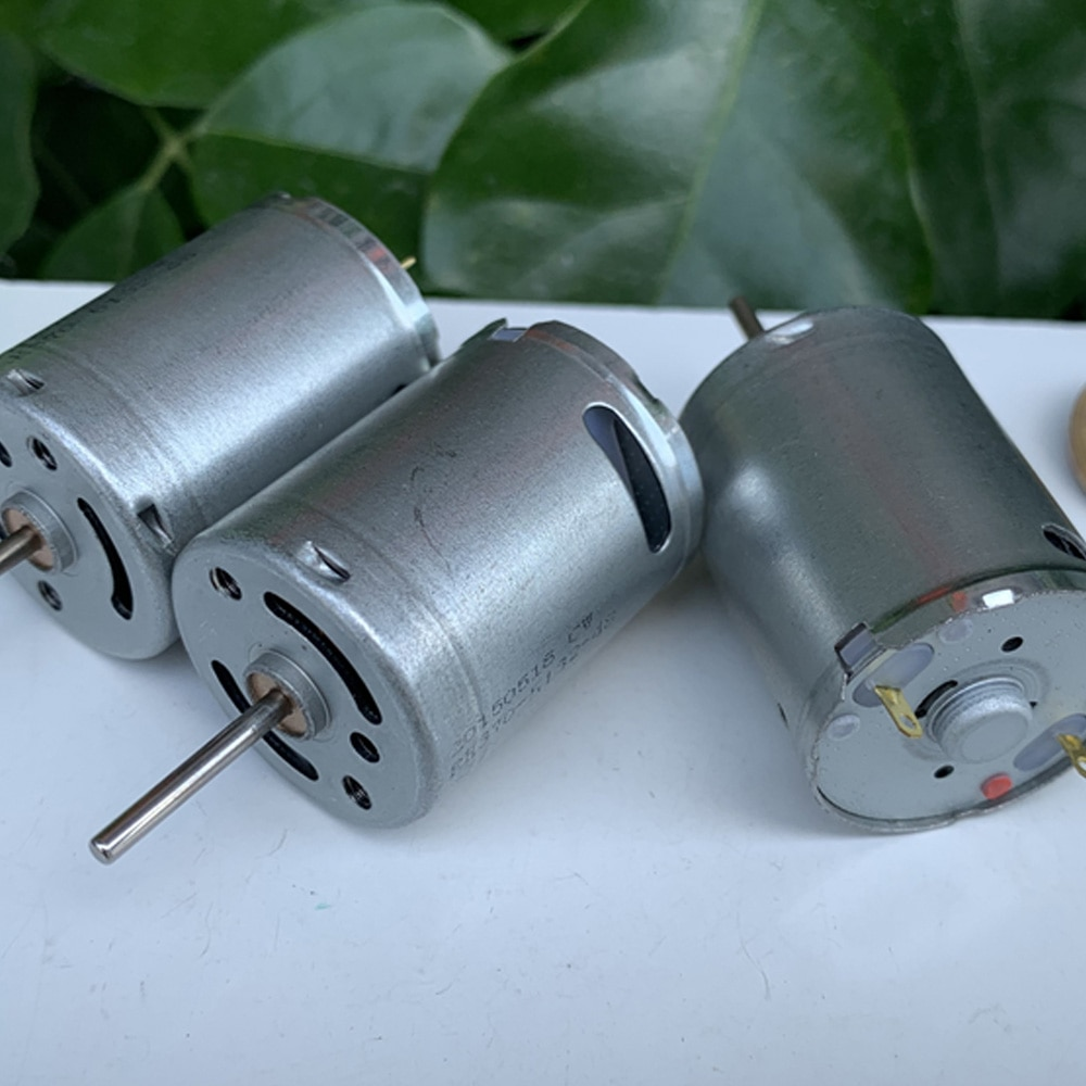 Micro Motor eléctrico de alta velocidad 7,4 de DC 3V-3,7 V, 370 V, 33000 V, pequeño Motor redondo DIY, coche de juguete, barco, modelo de bomba de agua, piezas