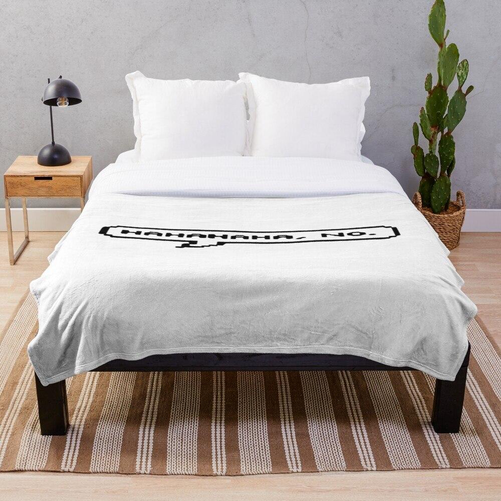 Soft Blanket for Bed Sherpa Flannel Fleece Blanket Home Travel Sofa Soft Throw Blanket Hahaha