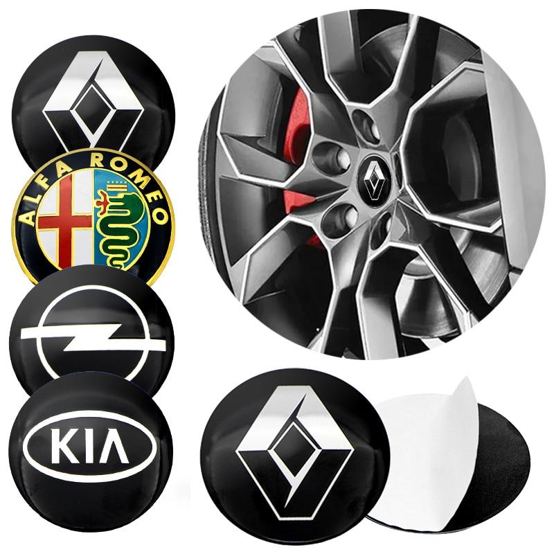 Tapas de cubo de rueda de neumático, pegatina para Mitsubishi ASX Lancer Pajero Outlander L200 EVO Lancer, accesorios de productos para automóviles, 56mm, 1 Uds.