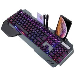 Teclado de computador com fio, teclado para jogos mecânico rgb anti-fantasma