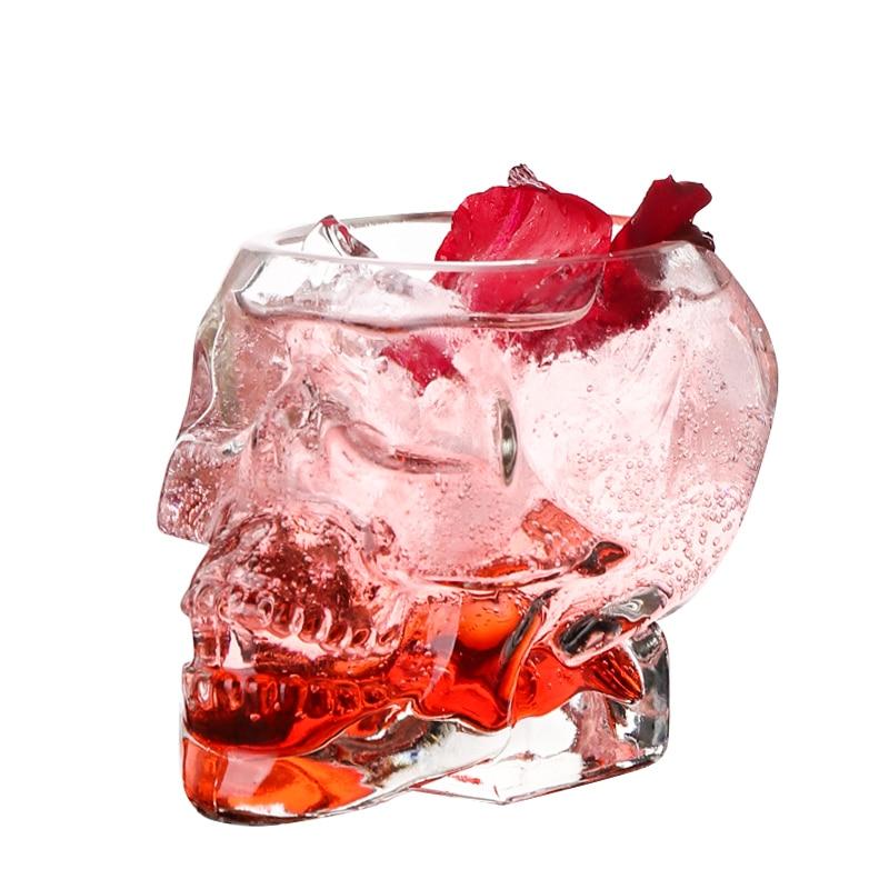 Bones Armor Warrior Skull Designed Wine Glass Cup Mug Gothic for Home Barware Drinkware Whiskey Wine Water Drinking Skull Cup