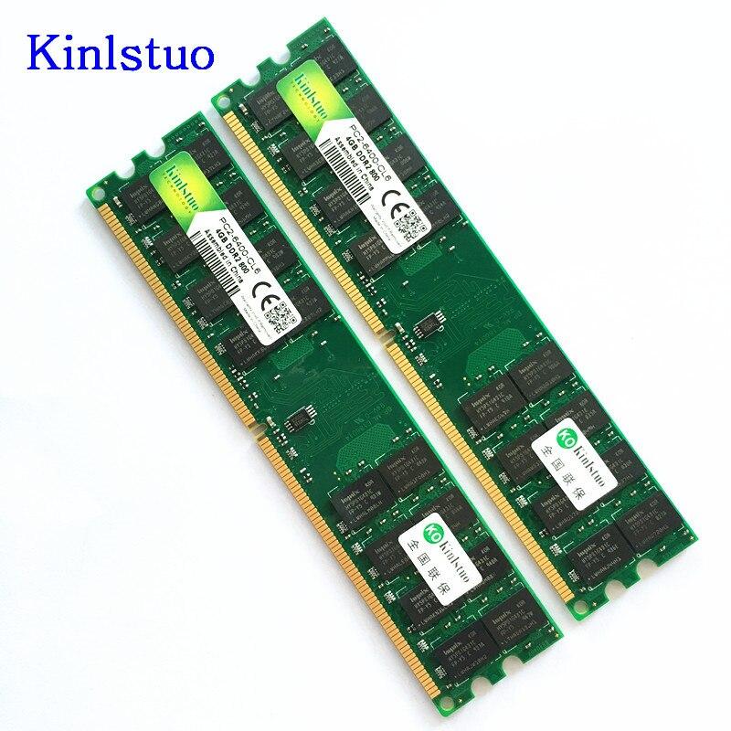 Kinlstuo-memoria Ram DDR2 para ordenador de escritorio, 2 uds., 8gb-2x4gb, 800/667MHZ, PC2-6400,...