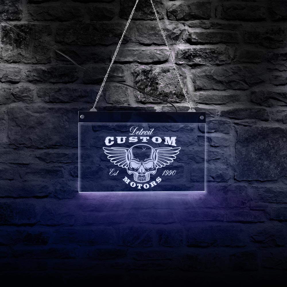 Servicio y reparación, LED letrero de neón de garaje personalizado, taller mecánico, Logo de Negocio personalizado, publicidad, iluminación de arte, letrero de pared