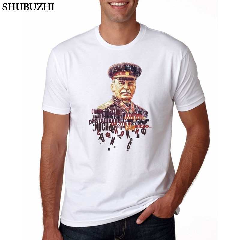 Men Print ALLIED NATIONS JOSEPH STALIN T-shirt O-Neck Short sleeves Summer Casual Fashion CCCP T Shirt SWAG