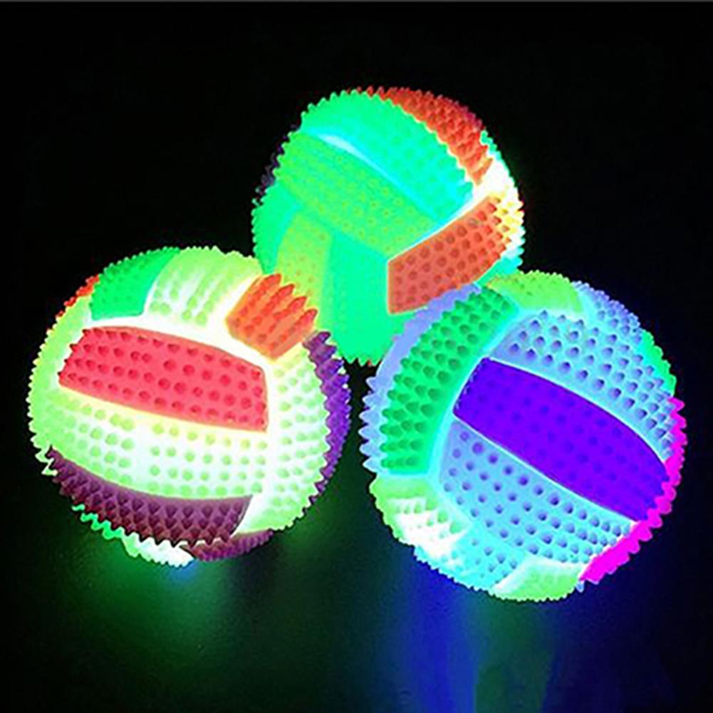 Светодиодный светящийся похлопывающий мяч, ночсветильник, светящийся мяч для футбола с вентиляцией, детская игрушка для домашних животных,...
