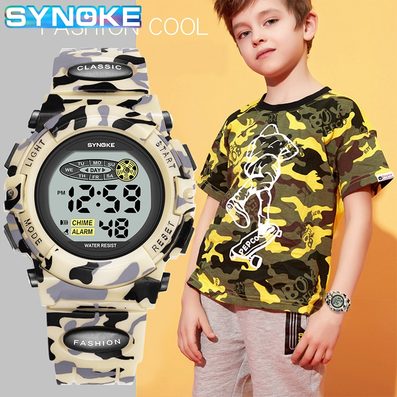 Watches For Children Outdoor Sports Electronic Clock Waterproof Kid Military Digital Watch Kids LED Alarm Boy Girl Montre Enfant synoke children s sports watch kid boy waterproof girl led digital watches for kids clock alarm child electronic wristwatch gift