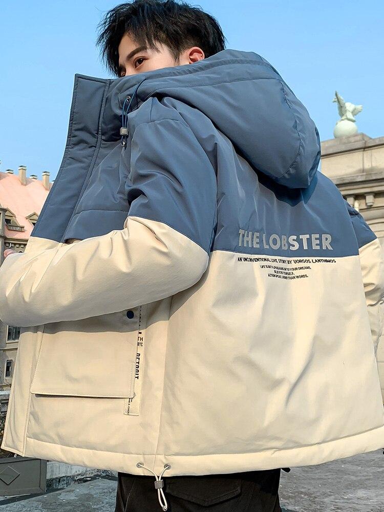 New Winter Parkas hooded Windbreaker long waterproof Autumn Thicken Jacket coats Men Casual Big Size Cotton Warm Clothing KK60MF
