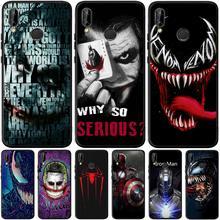 Venom Joker Für Huawei Ehre 8 9 10 20 Lite 7A Pro 7C 8A 8S 8X 8C 9X Ansicht 20 V20 Fall Weiche Silikon Abdeckung Telefon Zurück Capa Etui