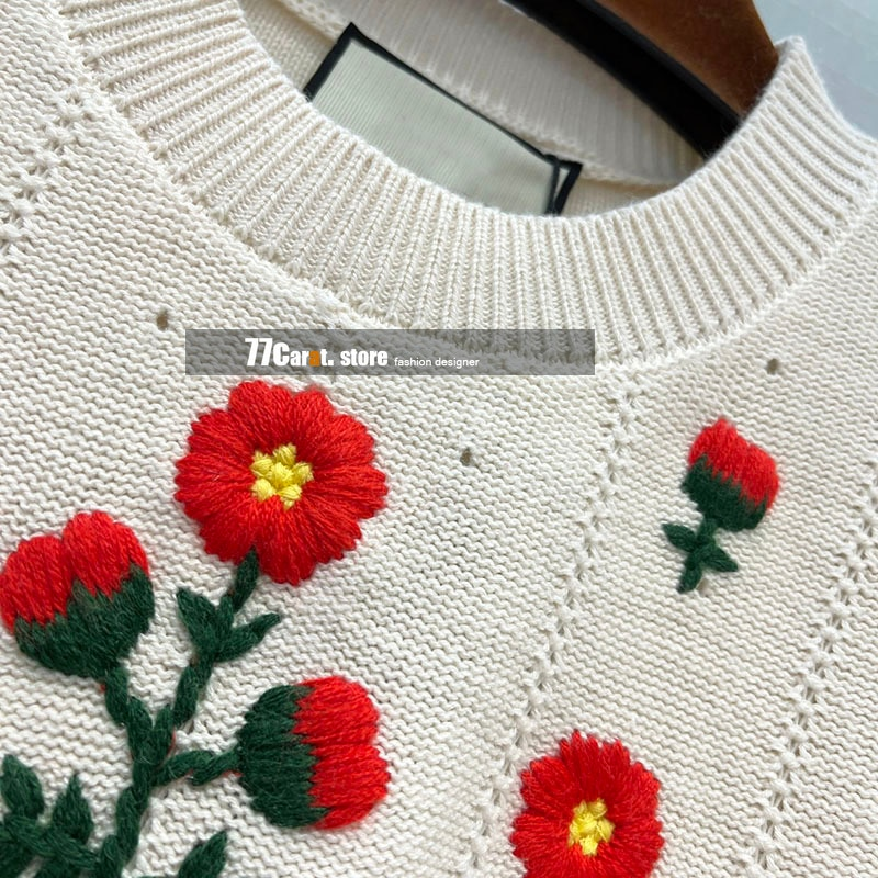 new style high end fashion sweater lantern sleeve floral jacquard cut out design 2021 fall sweaters for women clothes pullover enlarge