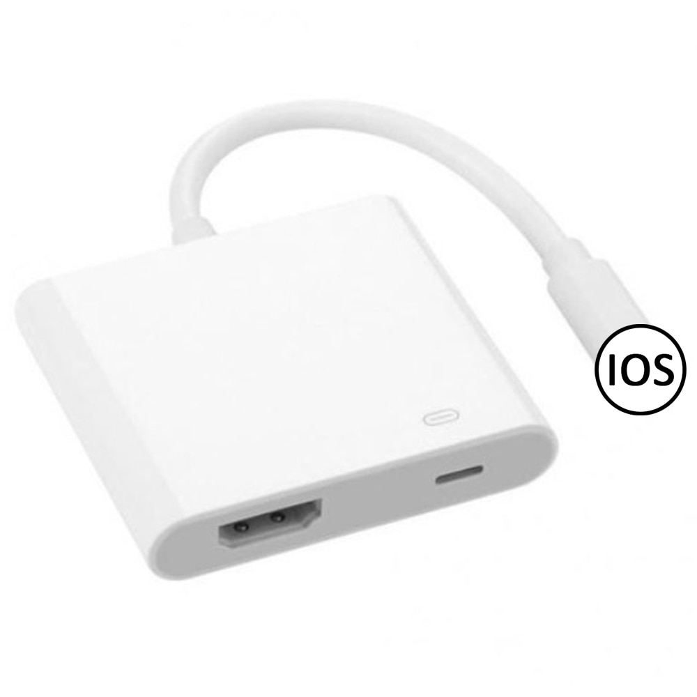 1080P for iPhone to HDMI-Compatible 8-Pin Port HD TV/ Projector Converter Adapter For Apple iPhone 12 11 pro 6 7 8 X iPad