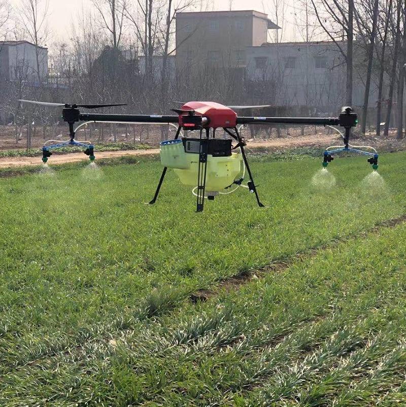 4 محاور 10L 10 كجم إطار الرش الزراعي بدون طيار مع بطارية JIYI K3A PRO TATTU 12S 16000MAH