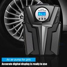 Tragbare 12V Auto Auto Motorrad Reifen Inflator Pumpe 150 PSI Luft Kompressor mit LED Licht Elektro Intelligente Auto Reifen inflator