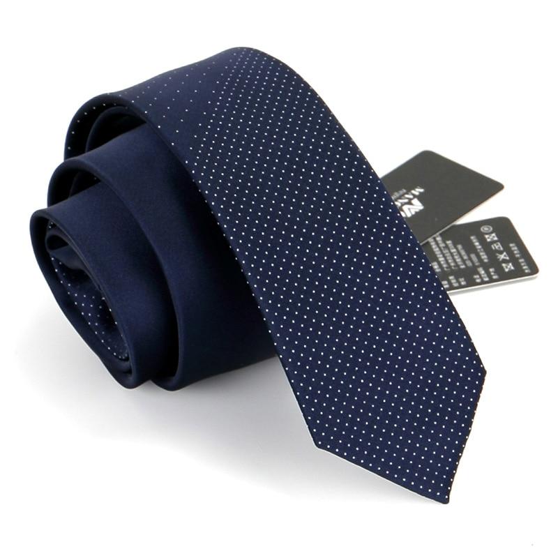 High Quality Silk Ties for Men 6cm Skinny Necktie Designer Striped Polka Dot 2.36 Inches Male Cravate Gift Box