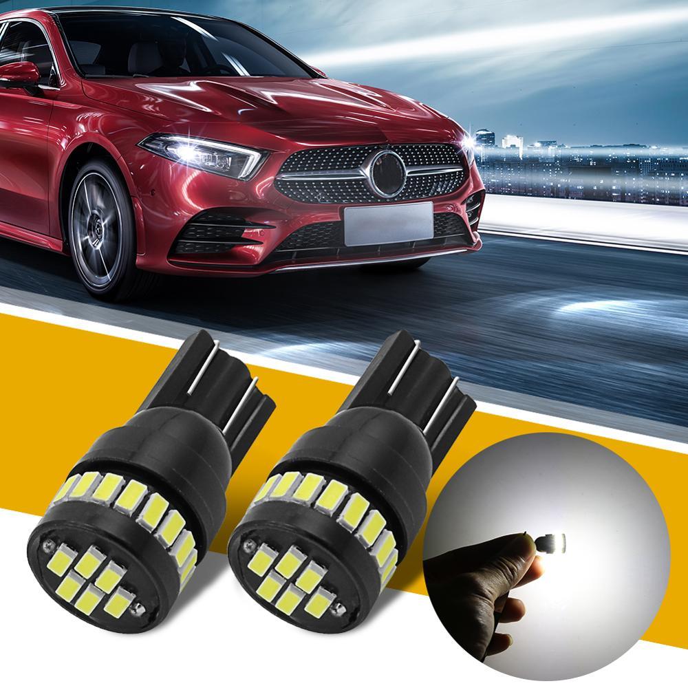 2x estilo de coche Auto LED T10 Canbus 194 W5W 24SMD 3014 bombilla de luz para N!ssan Qashqai j11 Juke X-trail Tiida Almera Teana