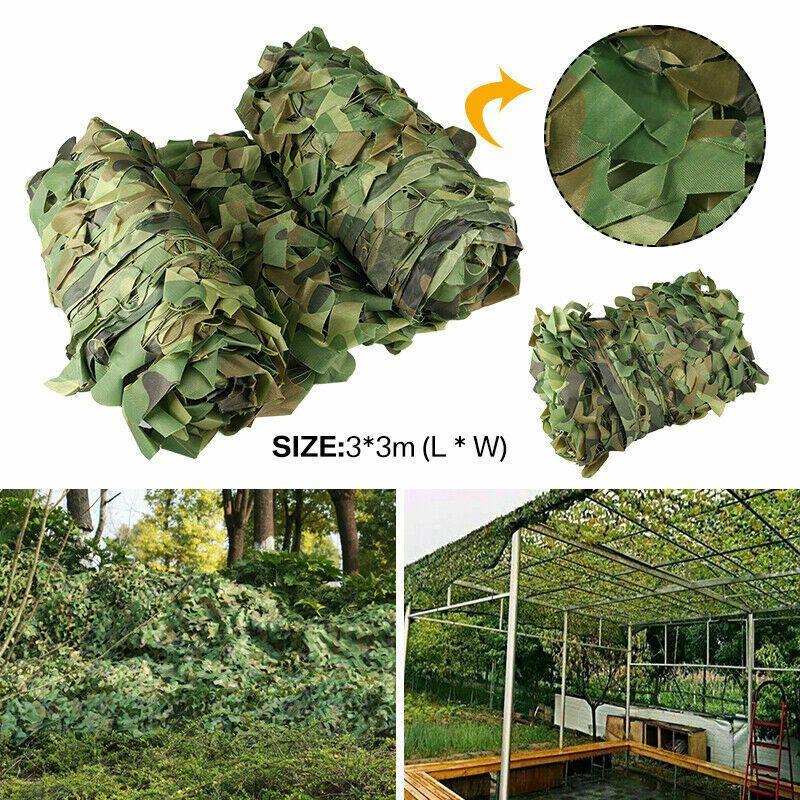 Высококачественная лесная камуфляжная армейская сетка, маскировочная сетка для кемпинга, военное укрытие для охоты
