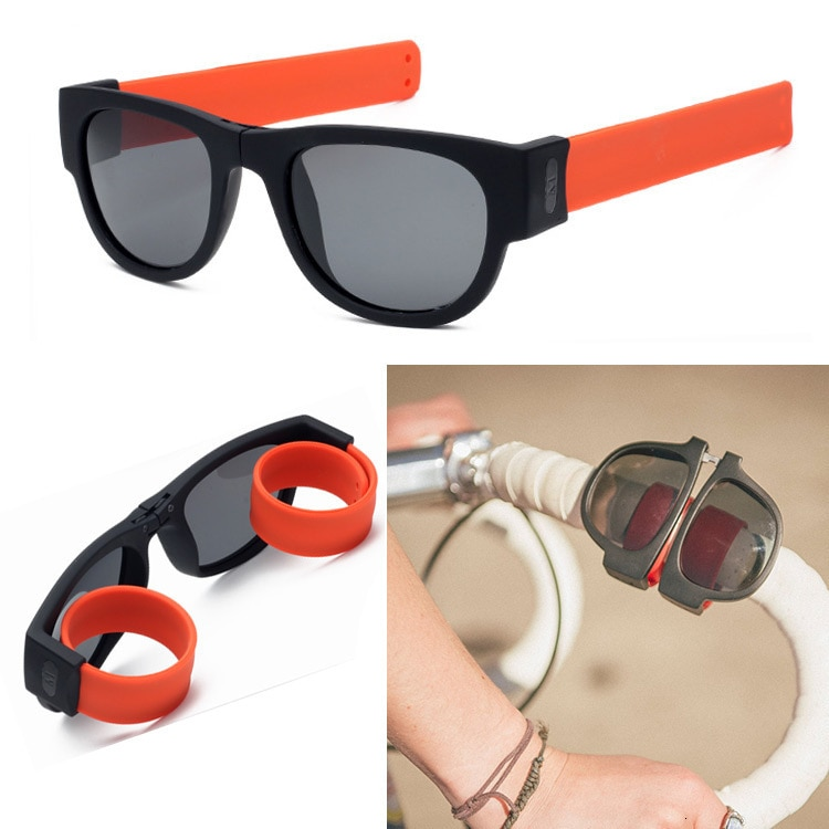 Folding Wrist Sunglasses Women Slap Wristband Sun Glasses Male Female Brand Designer Foldablen Roll