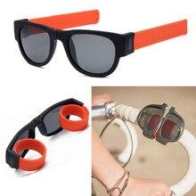 Folding Wrist Sunglasses Women Slap Wristband Sun Glasses Male Female Brand Designer Foldablen Roll