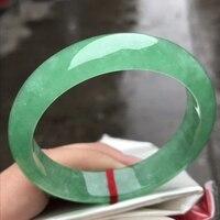 Koraba Only One !57.1MM  Certified (Grade A)100% Natural Green Jadeite JADE Bracelet Women Bangle