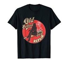 Camiseta para presente de carro clássico retro da vara quente da velha escola