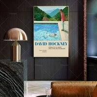 david hockney art portrait of an artist pool with two figures poster print modern art gift idea wall art poster print
