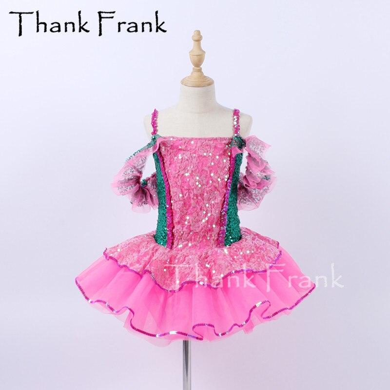Nova lantejoulas ballet tutu vestido meninas vestidos de bailarina feminino rendas trajes de dança crianças tule vestido de dança rave festival outfit c645