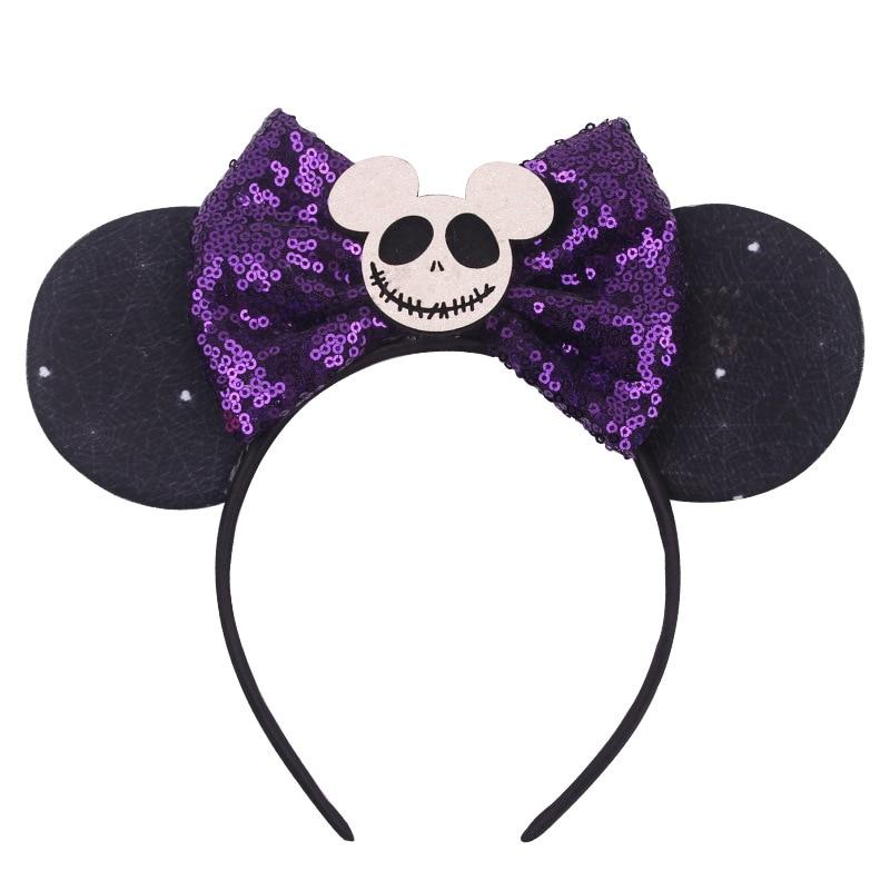 Disney 1 ud. Lazos para chicas encantadores nudo Mickey orejas bebé accesorios para el cabello diadema para niños niñas fiesta feliz Cintas de Pelo navideñas