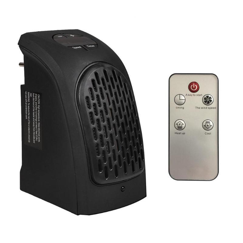 Electric Heater 400W Mini Fan Heater Desktop Household Wall Handy Heating Stove Radiator Warmer Machine for Office for Winter