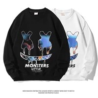 mens sweater for fallwinter 2021 new loose ins round neck pullover fashion casual couple wear 100 cotton mens long sleeves