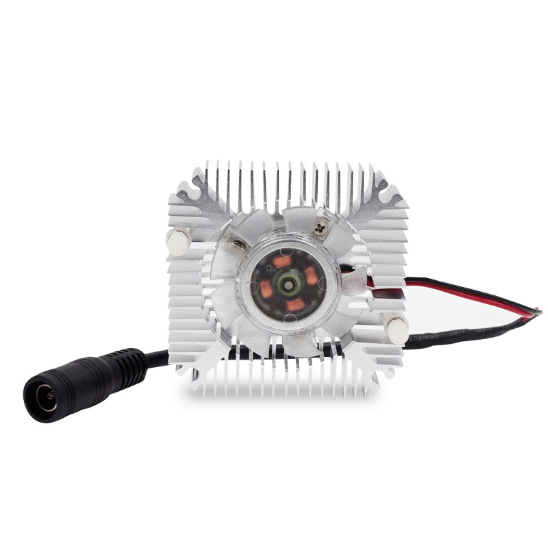 The Small Fan Aluminum Radiator Input AC100-240V 50-60Hz Output DC12V-1A EU PLUG Convenient to Install For Chip Heat Dissipation