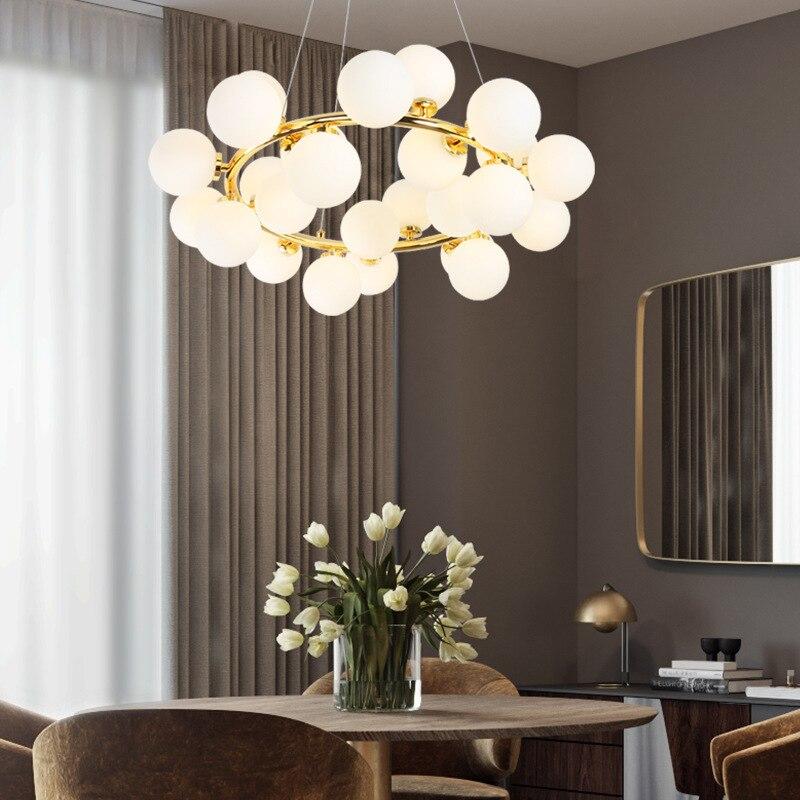 nordic led glass ball hanging lamp luminaria pendente pendant lights pendant lights commercial lighting pendant lamp bedroom