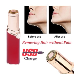 Mini Lady Lipstick Shaver Electric Shaver Body Hair Removal Razor Women Facial Epilator Hair Remover Depilation Machine