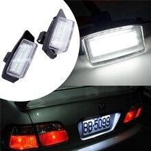 2 Pcs LED Number License Plate Lights Lamps For Mitsubishi OUTLANDER XL(CW) 2006-2012 Lancer Sportback 2008~2012 Car Accessories