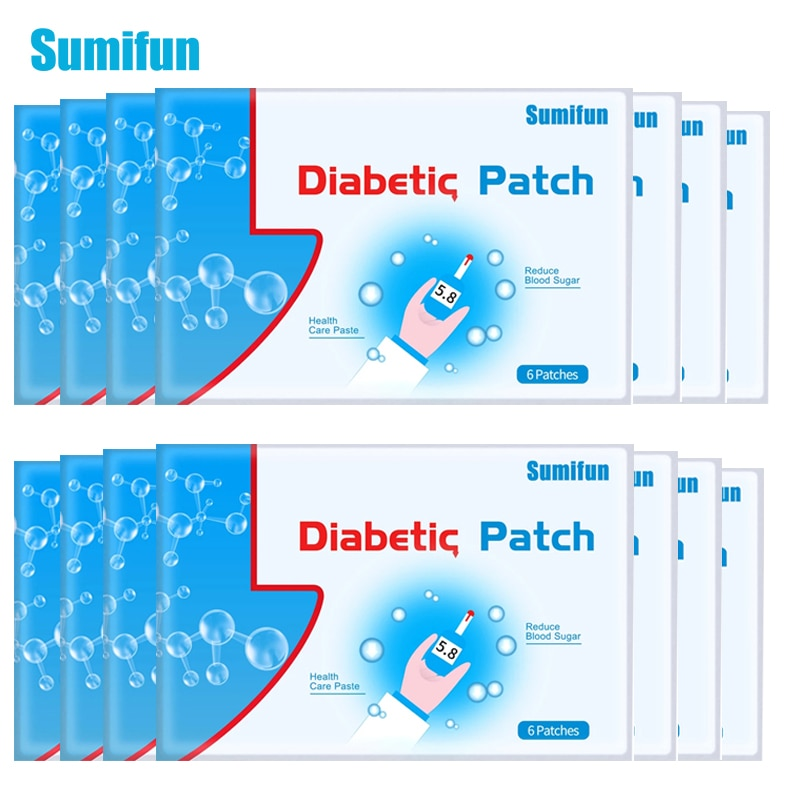 Sumifun 120Pcs/20 Bags Diabetes Patch Chinese Natural Herbal Medications Treatment Cure Diabetes Reduce High Blood Sugar Product недорого