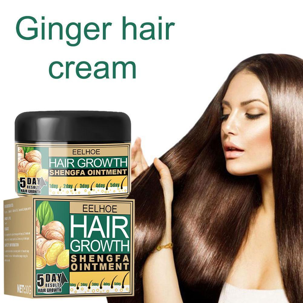 Ginger oil vitamin E oil Hair Growth Cream Moisturizing Scalp Massage Hair Care Essence Conditioner