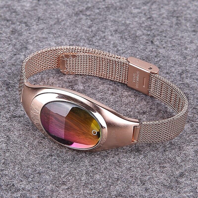Femmes mode bande intelligente Z18 Sport bracelet pression artérielle moniteur de fréquence cardiaque podomètre Fitness Tracker montre pour Android IOS