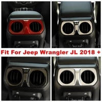 armrest box rear air conditioning ac vent outlet decoration cover trim fit for jeep wrangler jl 4 door model 2018 2019 2020 abs