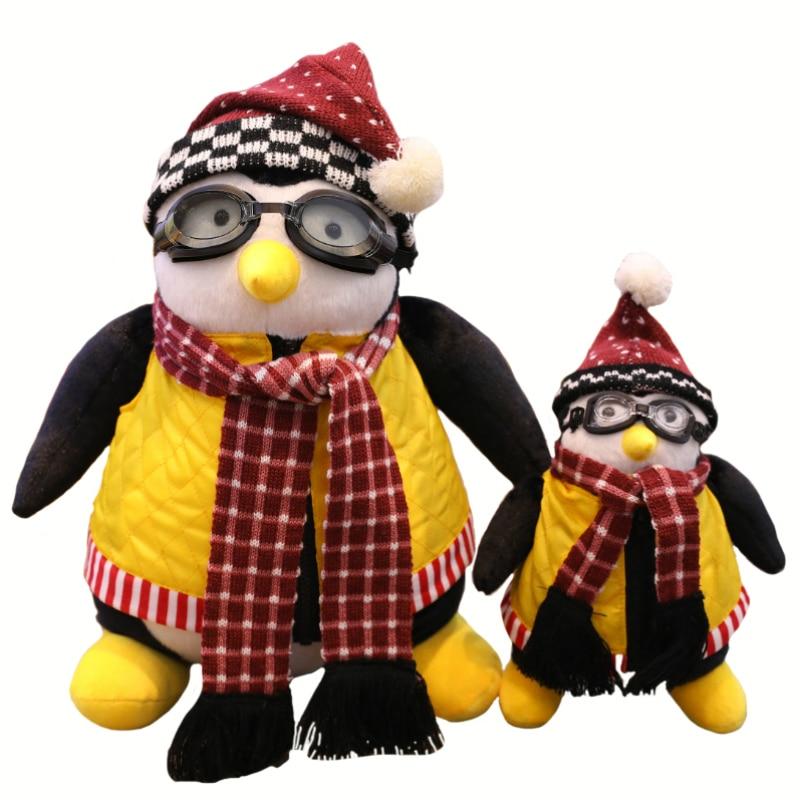 Игрушка плюшевая «Друзья вокруг пингвина» 25 см 45 см кукла «шесть» Пингвин Hugsy Haji плюшевая игрушка для подарка