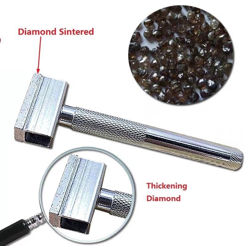Disco abrasivo de diamante sinterizado, afilado, muela, mango de piedra, herramienta para la cabeza, banco, pluma, cuchilla, amoladora abrasiva