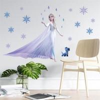 3D Мультяшные настенные наклейки Frozen2 для детской комнаты, спальни, настенные декоративные наклейки, постеры с принцессой и Анной