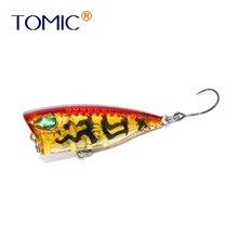 Tomic 4cm ultra-léger en plastique Micro pêche multi-couleurs minuscule appât flottant Topwater truite brochet Mini Popper