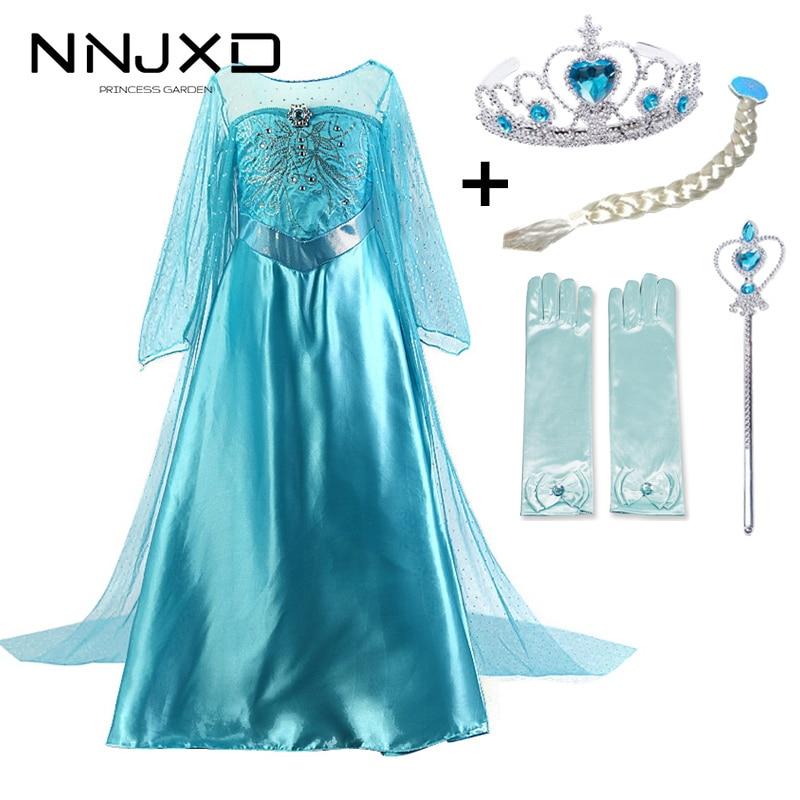 Nuevo Elsa Vestidos infantiles para niñas princesa Elsa Anna disfraces niños ropa niños Cosplay, Vestidos de fiesta, Vestidos de fantasía Infantil Niñas Ropa