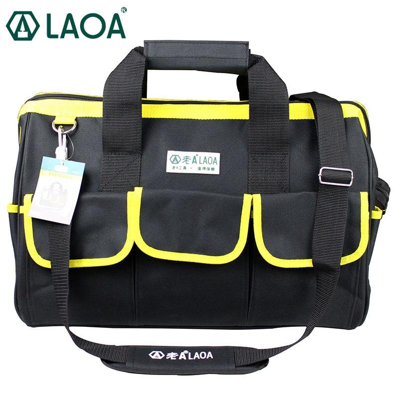 LAOA 600D утолщенная водонепроницаемая сумка для инструментов Набор для ремонта бытовой техники большая сумка для ручных инструментов